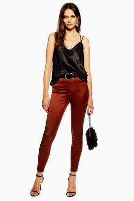 Topshop Womens Copper Sateen Jamie Jeans