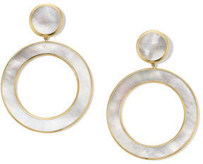 Ippolita 18K Polished Rock Candy Dot & Open Earrings in Mother-of-Pearl
