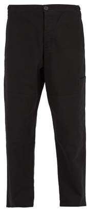 Oliver Spencer Judo Cotton Twill Trousers - Mens - Black