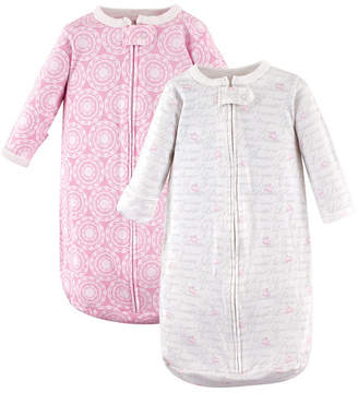 Baby Vision Hudson Baby Long Sleeve Cotton Sleeping Bag, 2-Pack, Girl Script, 0-3 Months