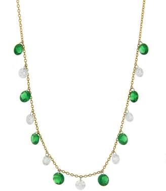 Aero Diamonds Emerald and Diamond Bib Necklace - Yellow Gold