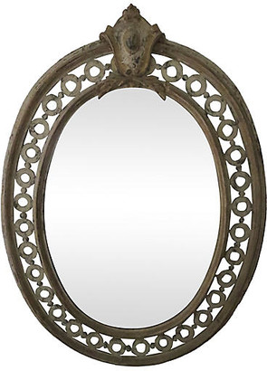 One Kings Lane Vintage 19th-C. French Mirror - Cliffe's Edge Antiques