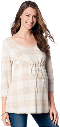 Motherhood Maternity Plaid Babydoll Sweater