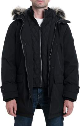 Michael Kors Lagrange Parka with Faux Fur Trim