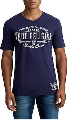 True Religion MENS COLLEGIATE BUDDHA GRAPHIC TEE