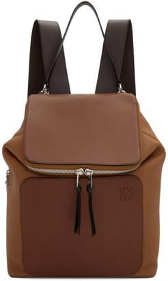 Loewe Tan and Brown Goya Backpack