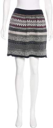 Philosophy di Alberta Ferretti Knit Wool Skirt
