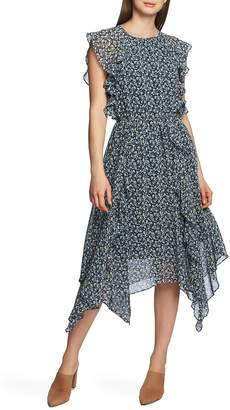 1 STATE 1.STATE Cascading Calico Ruffle Dress