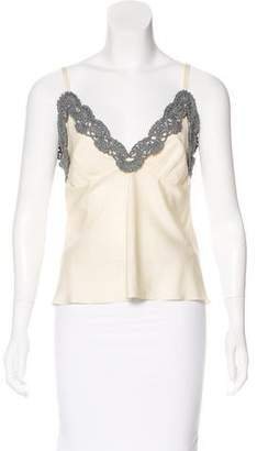 Vika Gazinskaya Embroidered Silk Top w/ Tags