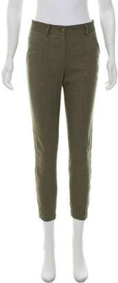 Veronica Beard Linen-Blend Utility Pants