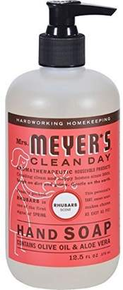 Mrs. Meyer's Mrs. Meyers Clean Day Liquid Hand Soap Hard 12.5 Oz Rhubarb Scent Pump Dispenser