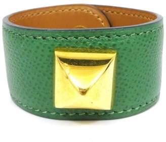 Hermes Medor Courchevel Leather Thick Bangle Bracelet