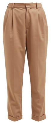 Nili Lotan Montana Pleated Virgin Wool Twill Trousers - Womens - Camel