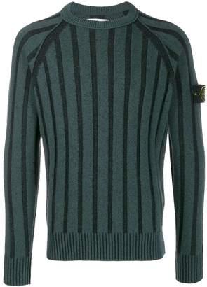 Stone Island knitted logo sweater