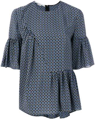 Stella McCartney patterned blouse with ruffle features