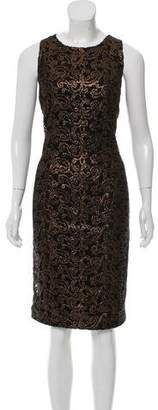 Carmen Marc Valvo Embroidered Midi Dress w/ Tags
