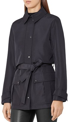 REISS Dale Short Trench Coat $370 thestylecure.com
