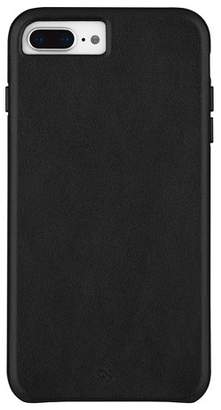 Barely There Case-Mate Apple iPhone 8 Plus/7 Plus/6s Plus/6 Plus Leather Case - Smooth Black