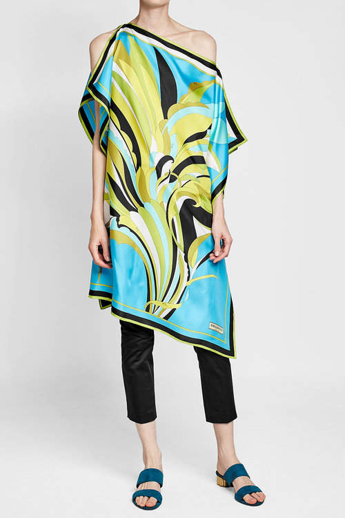 Emilio Pucci One Shoulder Fiore Maya Tunic