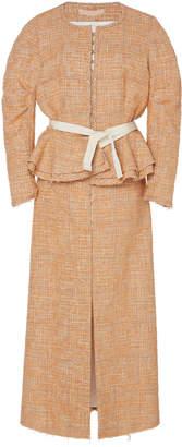 Brock Collection Pamela Peplum Tweed Coat Dress