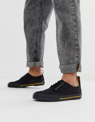 Dr. Martens Pressler plimsolls in black canvas