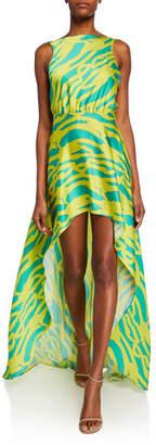 Alexis Rajiya Neon Sleeveless High-Low Dress