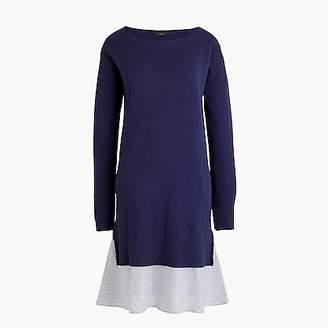 J.Crew Sweater dress with ruffle hem