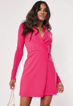 d83cac230d Missguided Tall Pink Long Sleeve Blazer Dress