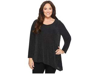Calvin Klein Plus Plus Size Angle Bottom Long Sleeve Top Women's Long Sleeve Pullover
