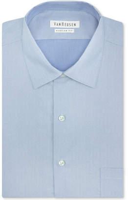 Van Heusen Big and Tall Classic-Fit Solid Herringbone Dress Shirt