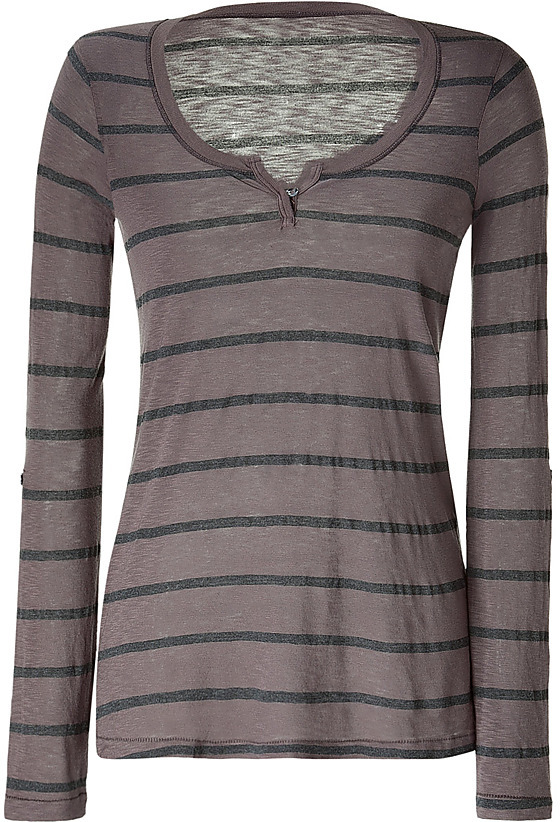 SPLENDID Mud/Charcoal Striped T-Shirt
