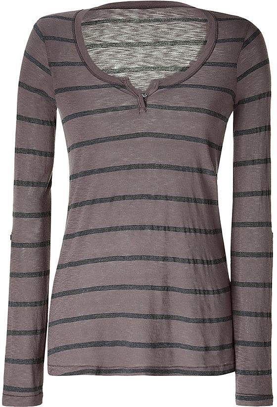 SPLENDID Mud/Charcoal Striped T-Shirt