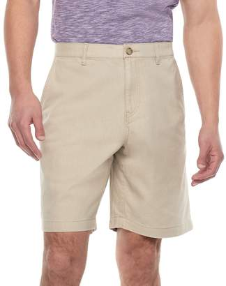Marc Anthony Men's Slim-Fit Linen-Blend Flat-Front Shorts