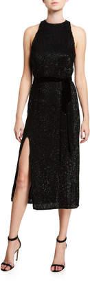 retrofete Tilly Shimmer-Ribbed Midi Dress