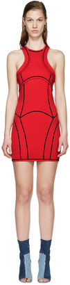 Dsquared2 Red Knit Curved Panel Dress $1,280 thestylecure.com