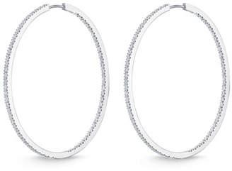 Memoire 18K White Gold & Diamond Infinity Hoop Earrings, 2.0 tdcw