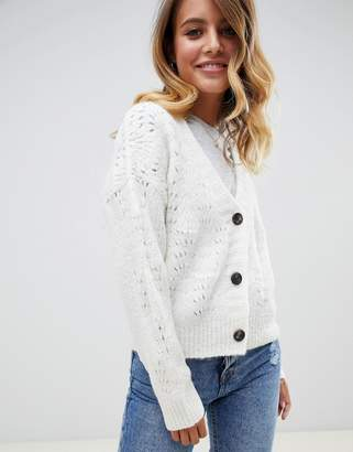 Asos (エイソス) - ASOS DESIGN chunky cardigan with pointelle stitch