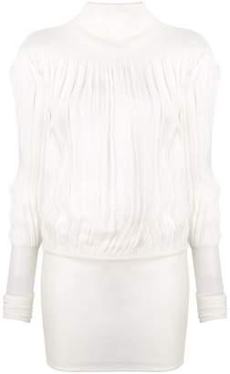 Jil Sander pleated sheer blouse