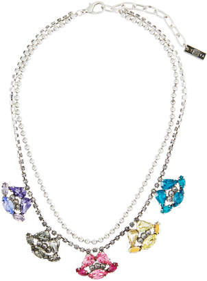 Swarovski Tova Multicolor Crystal Lip Necklace