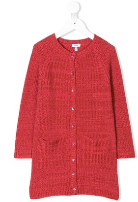 Knot long fitted cardigan
