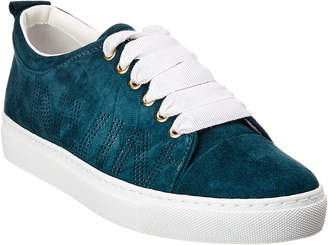 Lanvin Perforated Logo Suede Sneaker