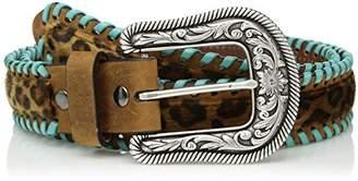 Ariat Women's Cheeta Turquoise Whip Lace Belt