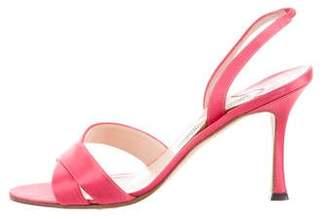 Manolo Blahnik Satin Slingback Sandals