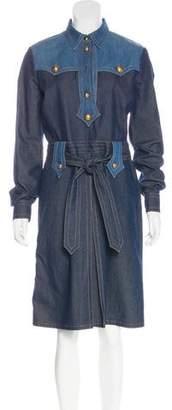 Gucci Denim Midi Dress