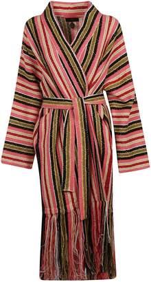 Alanui Baja Stripes Fringed Cardigan