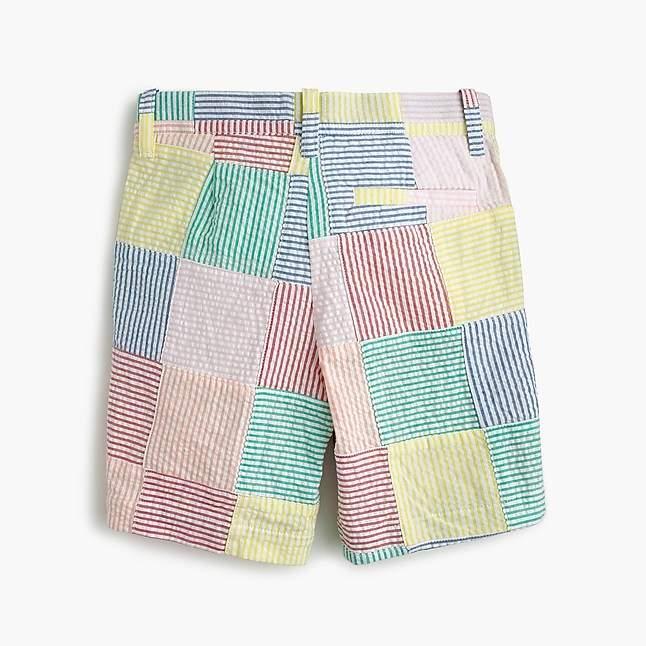 Boys' Stanton short in patchwork seersucker