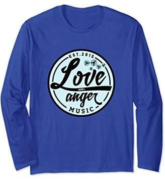 Love Over Anger Music: Long Sleeve T-Shirt