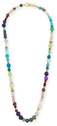 Dina Mackney Long Rainbow Beaded Necklace, 36""