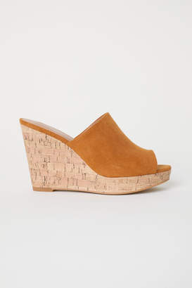 H&M Wedge-heel Mules - Orange