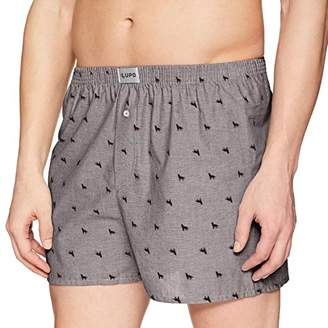 Lupo Men's Pattern Cotton Boxer Shorts